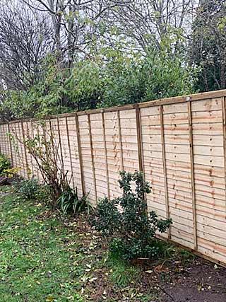 new garden fence in Gosport