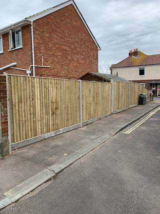 New completed fencing - Gosport