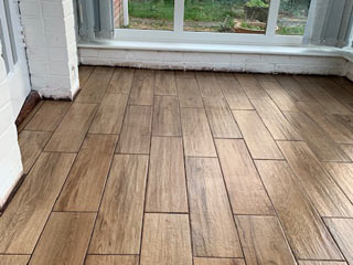 New completed flooring in conservatory - Gosport