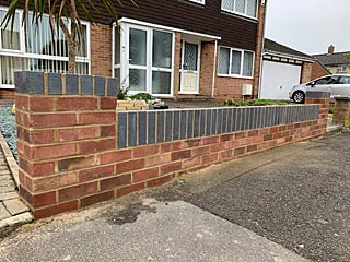 New wall for a Gosport client