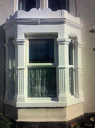 repaired window and surround
